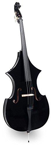 Classic Cantabile EDB-100 E-Kontrabass (formschöner elektrischer Kontrabass mit Tonabnehmer, Größe 3/4, Kopfhöreranschluss, inklusive Bogen, Tasche, Kopfhörer, Instrumentenkabel und Batterie) schwarz