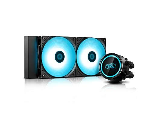 DEEPCOOL GAMMAXX L240 RGB Wasserkühler,2x120mm RGB Lüfter,240mm Radiator,12V 4pin,Support AMD AM4,3 Jahre Garantie