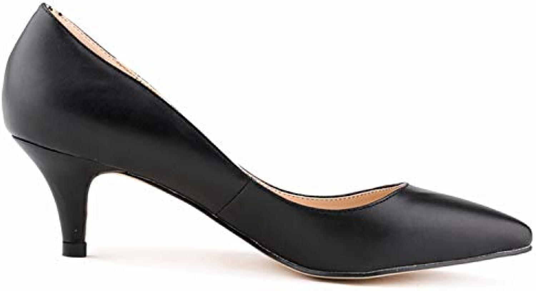 258639faa52bb5 FLYRCX Mode coloré Sexy Pointu Bouche Peu Profonde Talon Talon Talon  Haut Dames célibataires Chaussures Bureau Chaussures.