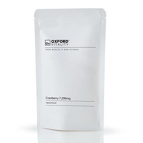 Oxford Vitality - Preiselbeere EXTRA 7200 + Vitamin C 40 mg Tabletten (Potente Frucht)