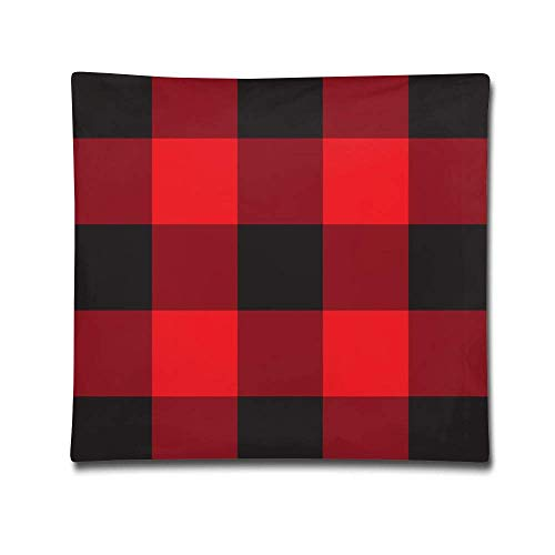 pillowcases Chess Board Plaid Pattern Throw Pillow Cases Cushion Covers Decorative Premium Square Standard foBeach Home Sofa Couch Bed Ca18 X 18 Inch