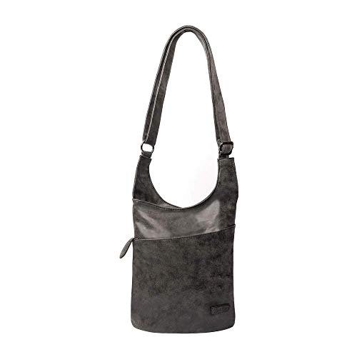 CASAdiNOVA ® Damen Umhänge-Tasche Schwarz - Frauen-Handtasche