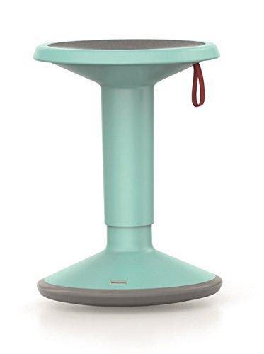 Interstuhl Mehrzweck-Hocker, ergonomisch, flexibel höhenverstellbar von ca. 46 bis 65 cm eisblau