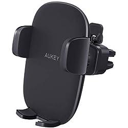 AUKEY Support Smartphone Voiture Grille Aération Universel avec Rotation 360°Porte Téléphone Voiture pour iPhone XR / XS / X / 8 / 7 / 6s / 6, Samsung Galaxy S9 / S8 et Les Autres Smartphone et GPS