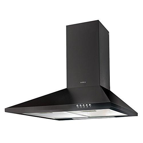 Elica Pyramid Cassette Filter Kitchen Chimney with 60 Cm 875 M3/Hr, Medium (Black, pyramidcfnero)