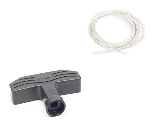 inox-trade Starter Corde Poignée de Lanceur pour Tondeuse à Gazon Générateur Pompe à Eau Inverter GX160 Honda