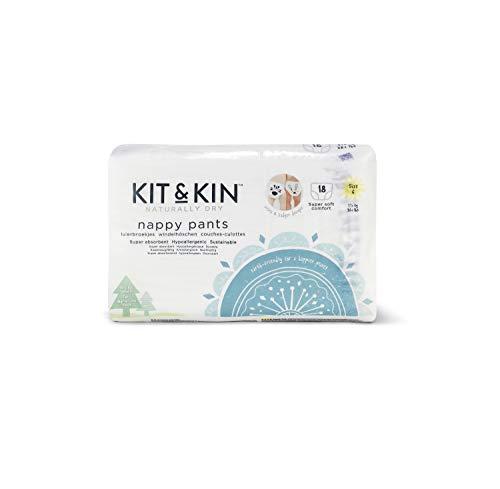Kit & Kin Öko Windelhöschen Größe 6, hypoallergen und nachhaltig (18 x 6 Packungen, 108 Windeln)