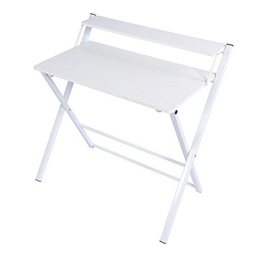Zerone tavolo pieghevole, in legno il tavolo multiuso è adatto a molte occasioni e design molto elegante (bianco)