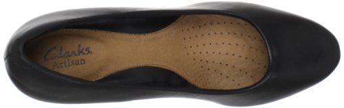Clarks Artisan appel Temp Pompe de plate-forme Black Leather