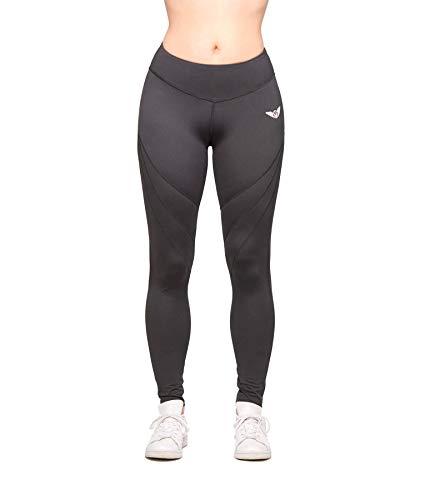 Aero wear Damen Stealth - 1 Zoll Slimmer Waist Leggings, Schwarz, M