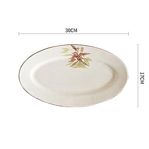Hotels,keramikplatten/ellipse,fisch/platte/keramik geschirr-A