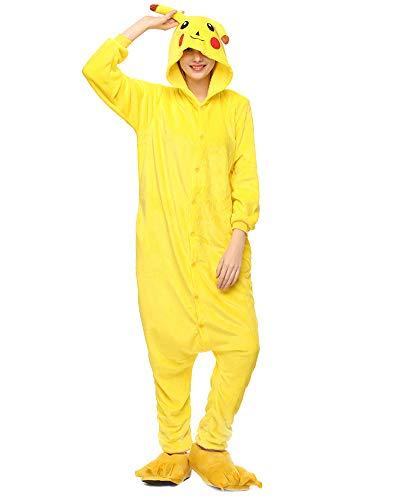 Kigurumi Pijamas Unisexo Disfraz Animales Ropa de Noche Yellow M