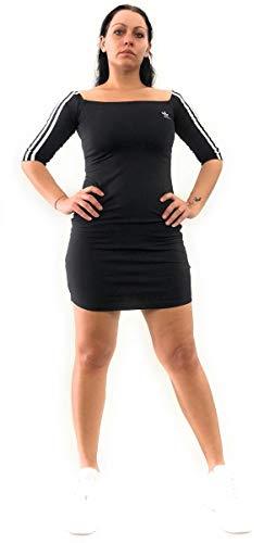 adidas Off-The-Shoulder W Kleid - Kleid Schwarz Adidas