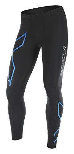 2XU Herren Compression Shorts Perform Kompressionshose Black/Cobalt Blue