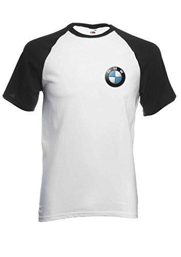 Preisvergleich Produktbild BMW Logo M Power / Tech Pocket Print Novelty Black / White Men Women Unisex Short Sleeve Baseball T Shirt-L