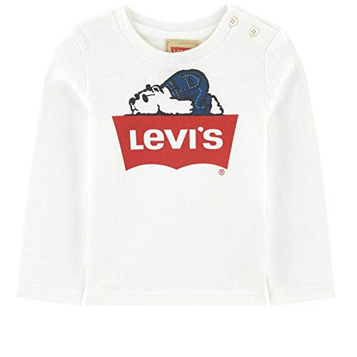 Levi's kids tee-shirt nm10004, t bimbo, bianco (nickel 10), 6-9 mesi (taglia produttore: 9m)