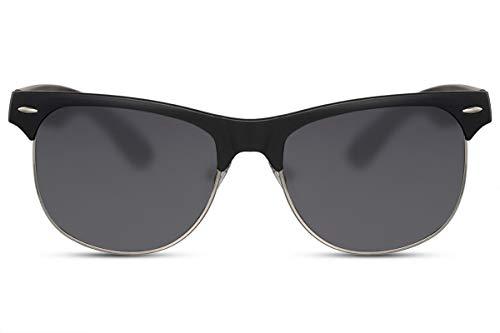 Cheapass Sunglasses Sonnenbrillen breit groß Style Herren Matt Schwarzer Rahmen und dunkle Gläser UV400 geschützt