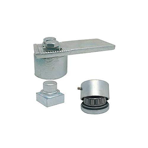Cardine a cuscinetti per cancelli in ferro a battente Diametro 50 coppia ART. 438-439 IBFM