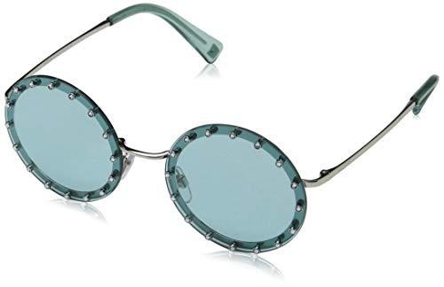 Valentino Damen 0VA2010B 300665 52 Sonnenbrille, Silber (Silver/Light Azure),