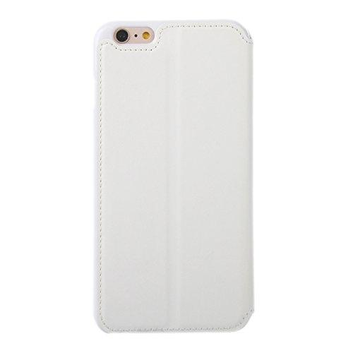Phone case & Hülle Für iPhone 6 / 6S, Roar Crazy Pferd Textur Leder Tasche mit Halter & Card Slot & Anrufer ID Display ( Color : White ) White