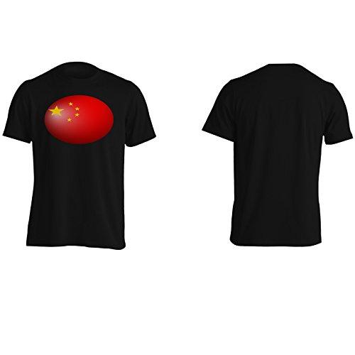 Nuovo regalo della sfera della bandiera della porcellana Uomo T-shirt g137m Black