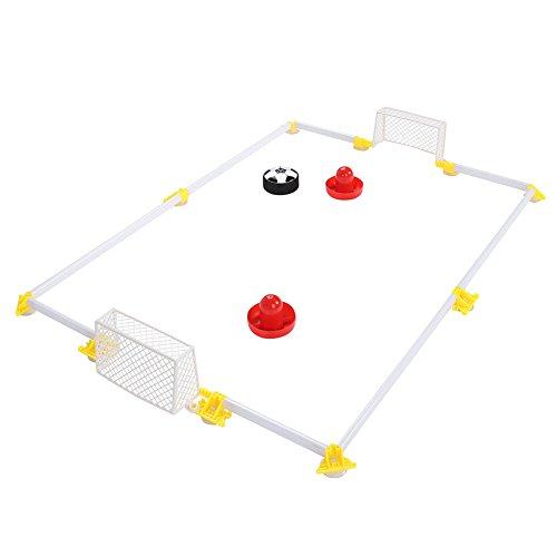 Alomejor Fußball Ziel Spielzeug-Set Air Power Soccer Disk Hover Fußball Spiel Fussball Tor Set mit Ziel für Jungen und Mädchen Spielzeug
