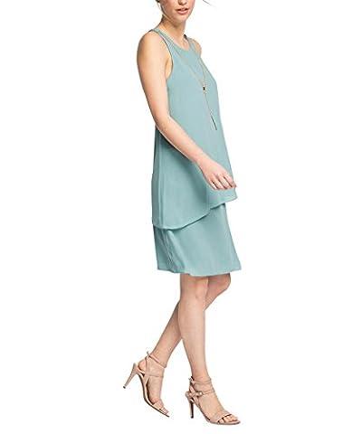 ESPRIT Collection Damen Kleid mit Kette, Knielang, Gr. 36, Grün (DUSTY GREEN 335)