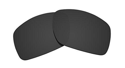 Littlebird4 polarisierte Ersatzgläser für Oakley Big Taco Sonnenbrillen, 1,5 mm, Verschiedene Optionen, Herren, Dark Black