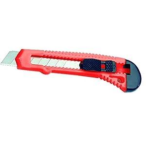 Vigor Blinky Coltello lama a spezzare, Plastica rossa eco, 18 mm 31Sr6L9C01L. SS300