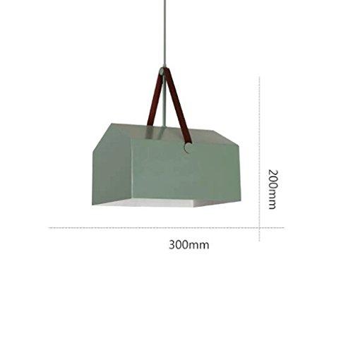 lustre GAODUZI Moderne Minimaliste Personnalité Créative Lampes Lampes Salle à Manger Chambre Bar LED Éclairage E27 (Couleur : Vert, Taille : 300 * 200mm)