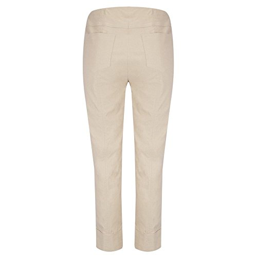 Bella von Robell Slim Fit 7/8 Schlupfhose Stretchhose Damen Hosen #Bella 09versch.Farben Beige(17)