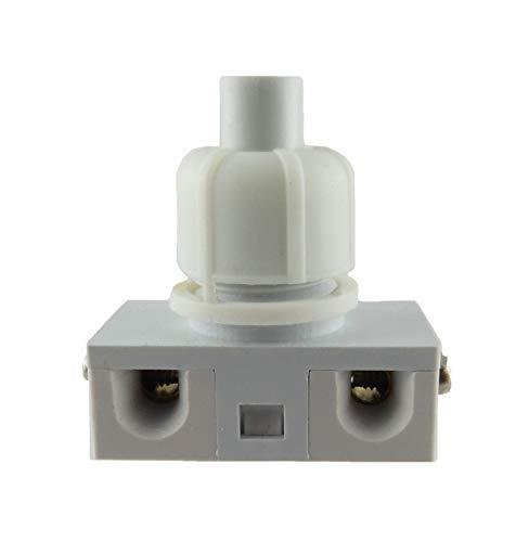 Einbau Druckschalter Schwarz, Weiß, Transparent - Weiß für Lampen 250V 2A (Weiß)