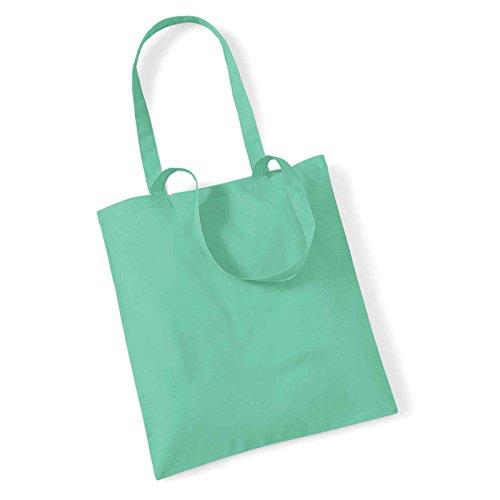 Westford Mill Leben Lange Griffe Shopper Schultertasche Einkaufstasche Baumwolle WM101, baumwolle, hellrot, 38 x 42cm Mint