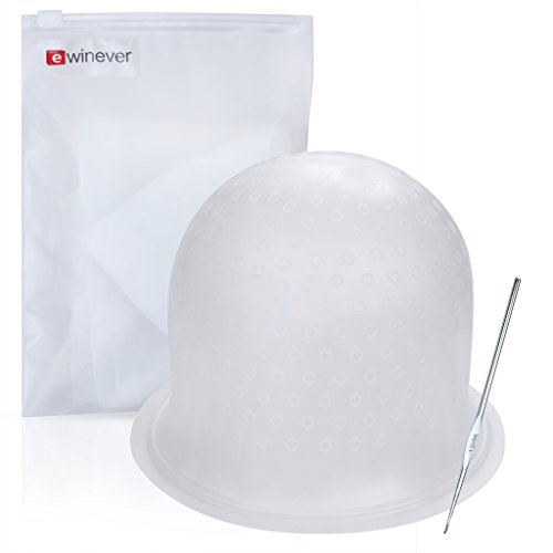 Highlighting Frosting Cap, Professional Salon Silicone Hairdressing Tools, with Coloring Hair Hook