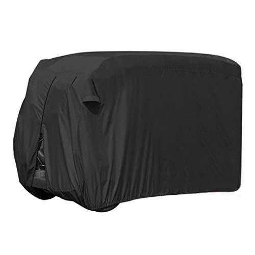 XIAOLVSHANGHANG YUBU Outdoor Sunshade Black Golf Car Cover wasserdicht Zwei viersitzige Golf Cart Kleidung Outdoor Schutz, DREI Größen Zelte (Farbe : SCHWARZ, größe : L(285 * 162 * 168cm))