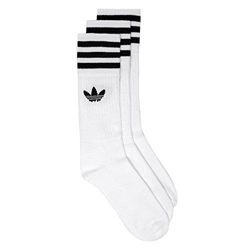 adidas Herren Solid Crew Socken (Med) EUR 39-42 (Adidas Crew Socken)