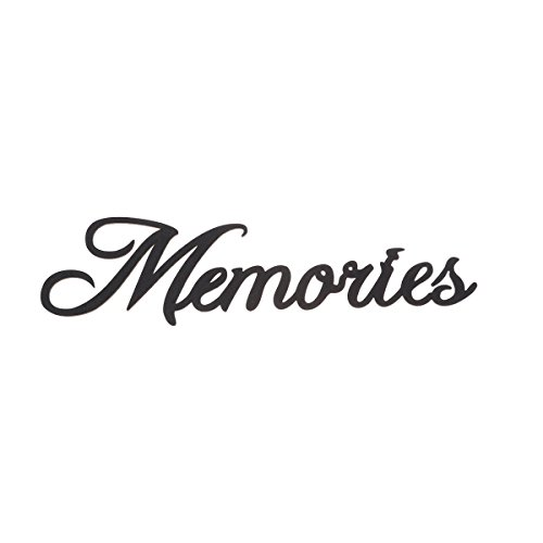 Vosarea Schriftzug Holz Memories Vintage Buchstaben und Zeichen Wand Dekoration 38x10x0,2cm (Schwarz) (Wand Holz Buchstaben)