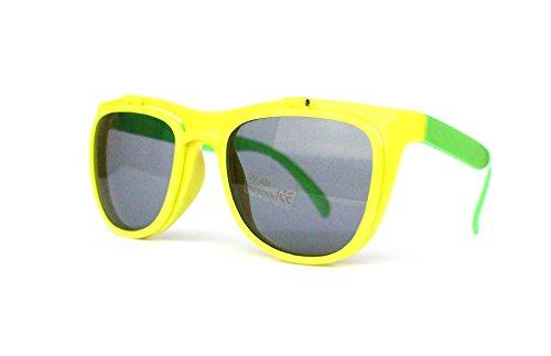50er 60er Jahre Retro Vintage Sonnenbrille Sommerbrille Clubmaster Style Rockabilly Trend 2017 2018 Mode Fashion Fashionbrille Beach Club Designer Brille gelb grün