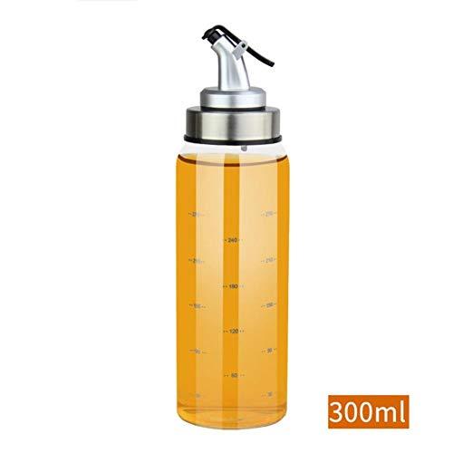 500ml vidrio Aceitera o vinagrera (Acero Inoxidable, aceitera (Cristal 0.5l Explosion–Seguridad para aceite, Salsa de soja, sesamöl, pfefferöl y otros fluidos Especias–favourall 300ml