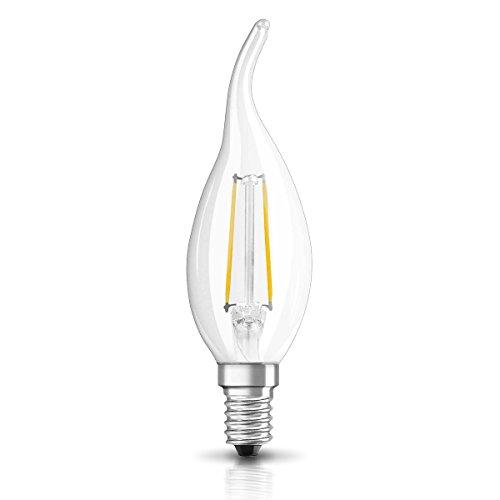Osram LED Star Classic BA Lampe, in Kerzenform mit E14-Sockel, nicht dimmbar, Ersetzt 25 Watt, Filamentstil Klar, Warmweiß - 2700 Kelvin, 1er-Pack