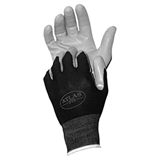 Atlas 370M Nitrile Tough Assembly Grip 370 Work Gloves, Medium by Atlas