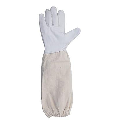 KINGLAKE Waterproof Beekeeping Gloves Goatskin, Leather Beekeeper Gloves for Men & Women, Large Beekeeping Protective Gloves Long with Vented Sleeves 3