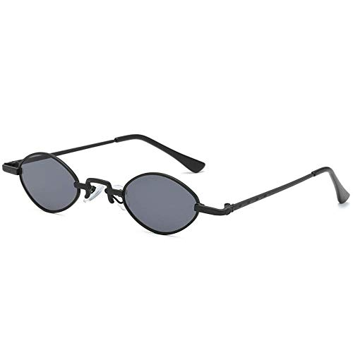 ATR Sonnenbrille Retro Sonnenbrille mit kleinem Gestell Weibliche Persönlichkeit Hip-Hop Männliche Brille mit rundem Gesicht