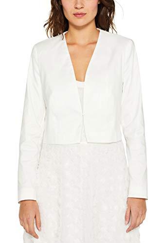ESPRIT Collection Damen 999Eo1G801 Anzugjacke, Weiß (Off White 110), Herstellergröße: 40 - Off White Kleid Hose