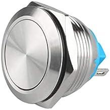 HOUTBY/™ schwarz Kfz 12mm Wei/ß Licht 2A momentaner Druckknopf wasserdicht Kippschalter Schalter