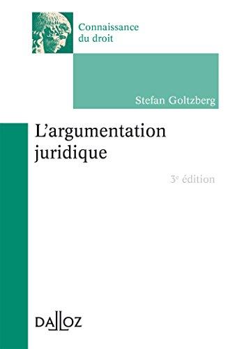 L'argumentation juridique - 3e éd.