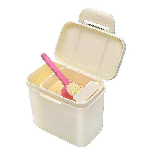 Milchpulver-Spender - Ankou Portable Milchpulver-Vorratsbehälter mit Gleichmacher - BPA-freien luftdichte Milchpulver Pot Box - Lebensmittelvorratsbehälter (Beige 350ML) (Milchpulver-box)
