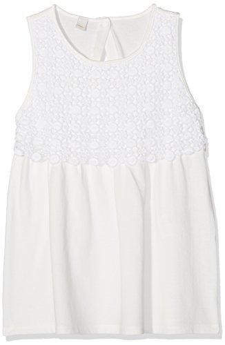 ESPRIT Mädchen Regular Fit T-Shirt RJ10275, Einfarbig, Gr. 152 (Herstellergröße: M), Weiß (WHITE 010) (Spitze T-shirt Mädchen)