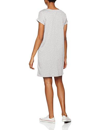Vila Vidreamers S/S Dress-Noos, Vestito Donna Grigio (Light Grey Melange Light Grey Melange)
