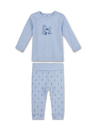 Sanetta Baby-Jungen Zweiteiliger Schlafanzug 221351, Blau (Bleu Melange 50240), 92